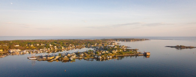 drone shot of E. Gloucester. Hammond would have LOVED this. Photo M. Del Vecchio