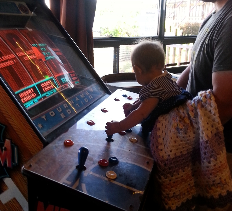 Fun Fact: Babies are naturally good at NBA Jam.