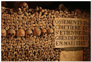 At least the underground tunnel skulls were neatly kept