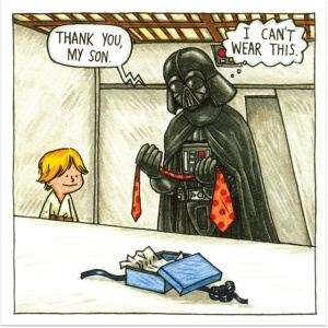 Darth Vader dad comics? Well played, cartoon man!