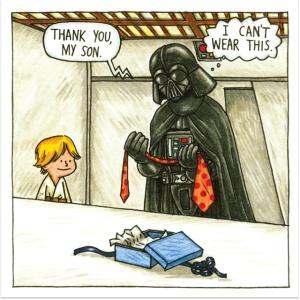 Darth Vader dad comics? Well played, cartoon man!