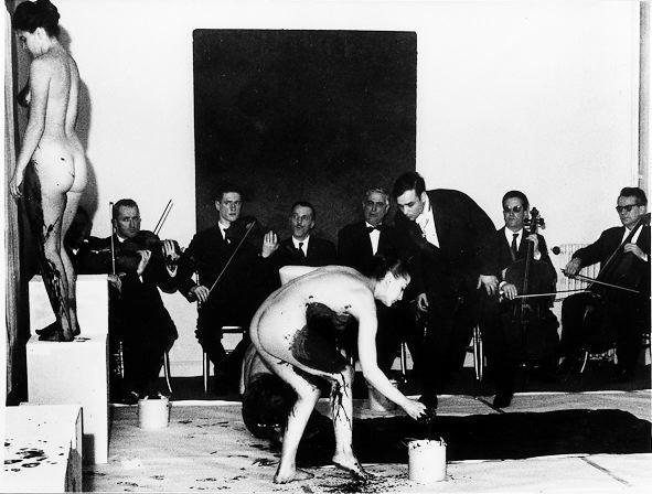 Yves Kline happening, 1960