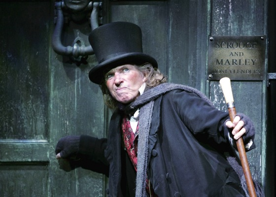 """""""Cratchit, sir? 'ed be off again tendin' to 'is wee crippled son Tiny Tim, e wood, sir."""""""