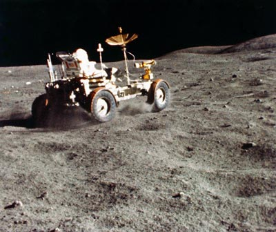 We brought a car up to the Moon because America, bitches.